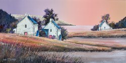 Dawn Hamlet by John Mckinstry -  sized 24x12 inches. Available from Whitewall Galleries